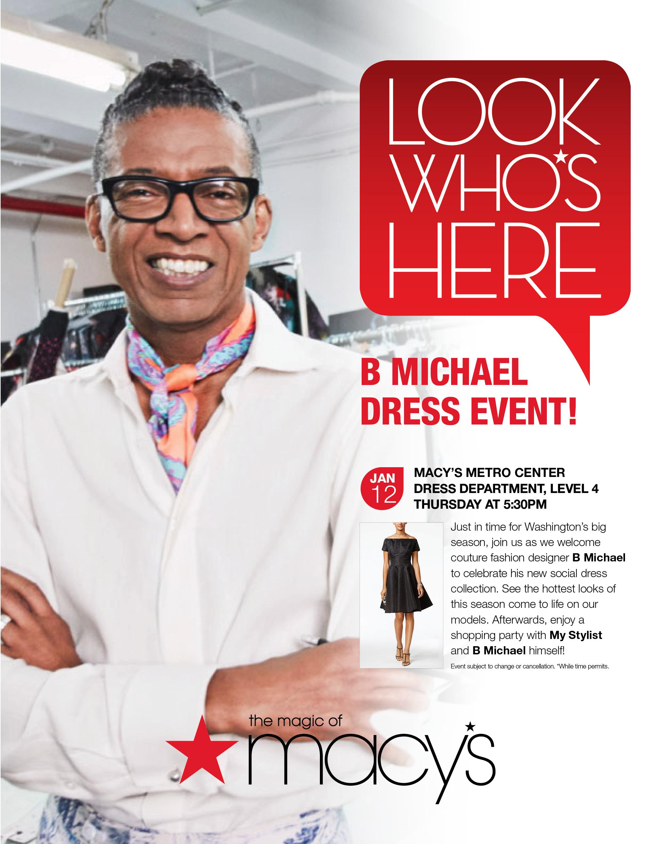 Look What\'s Happening At MACY\'S ~ Designer B Michael Personal ...