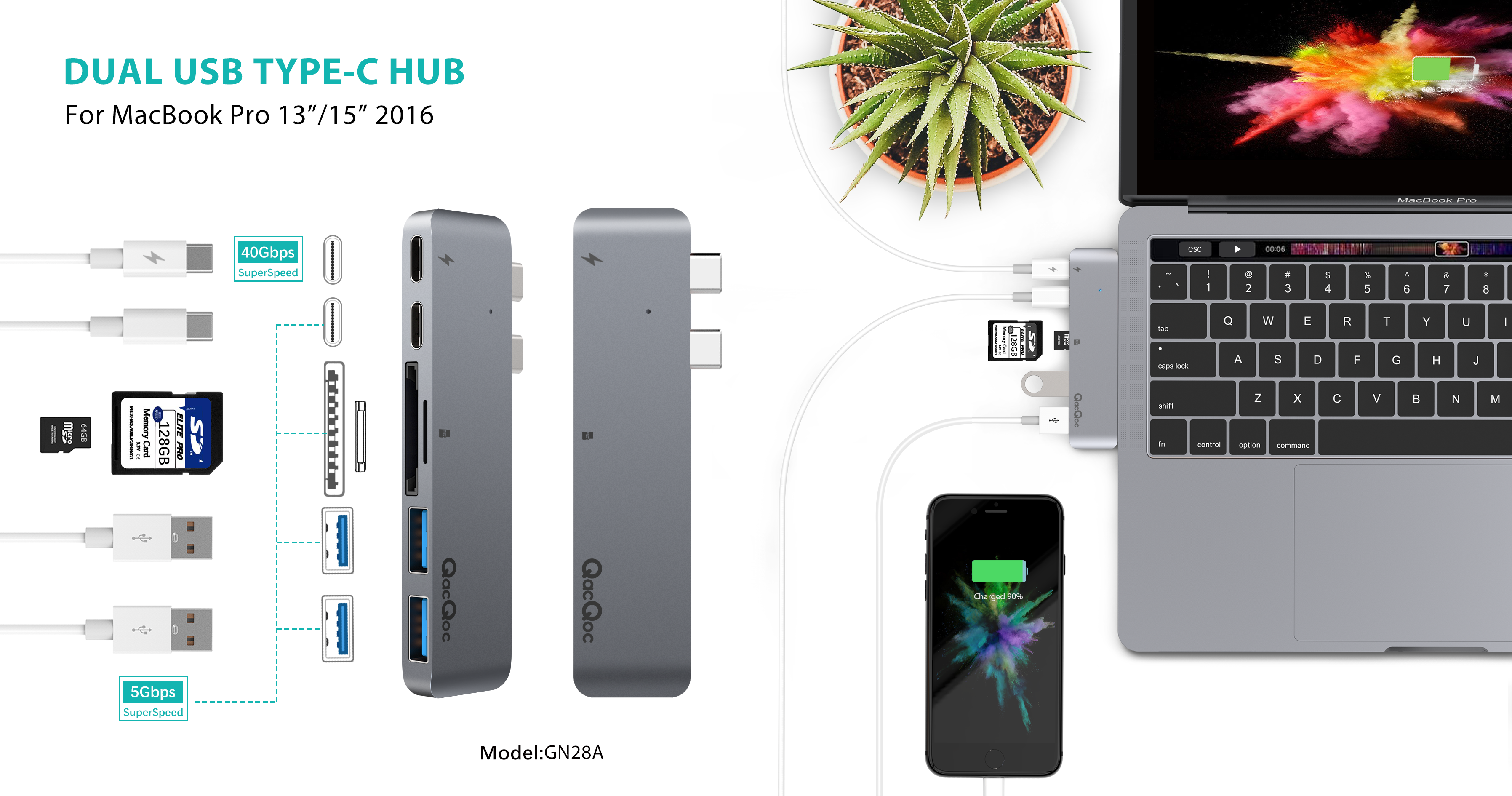 QacQoc's Innovative USB Hub for New MacBook Pro 13'/15'